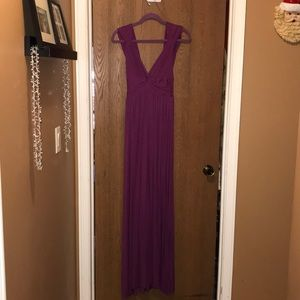 Woman's purple Maxi Dress